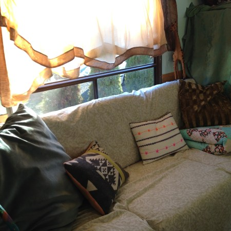 1989 Mallard Sprinter RV Remodel Couch