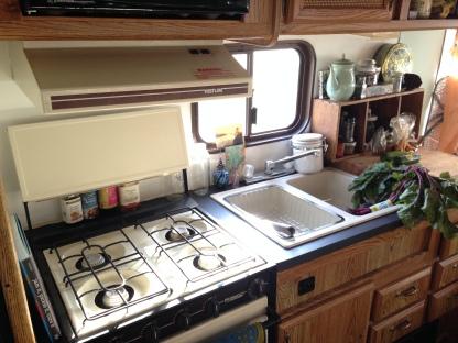 1989 Mallard Sprinter RV Remodel Kitchen After